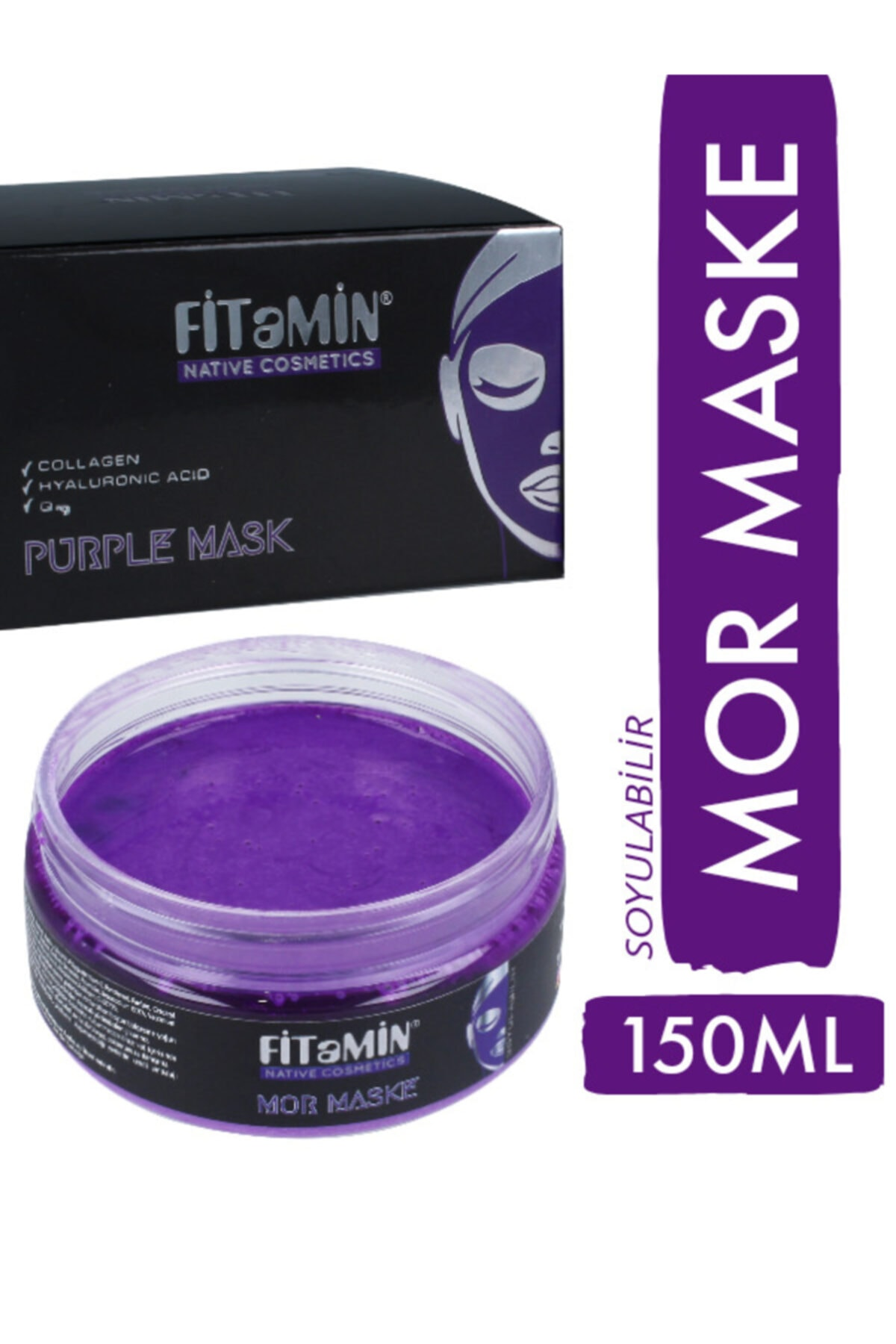 fitamin Soyulabilir Mor Maske Collagen Q10 Karamürver 150ml 2