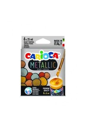 CARIOCA 6 Renk Metalik Tempera Yıkanabilir Sulu Boya