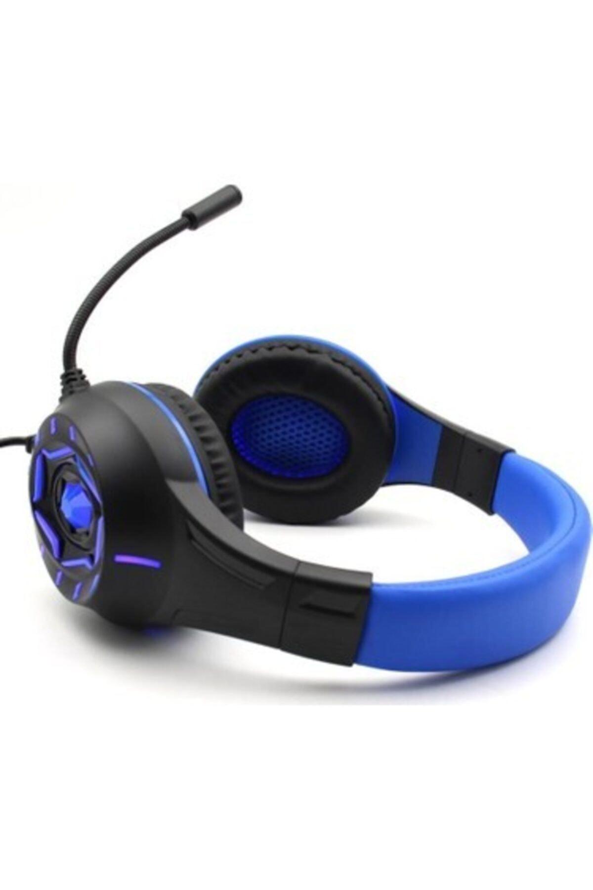 Dynego Stereo Pc-xbox One-ps4 Led Oyuncu Gaming Kulaklık -mavi315 2