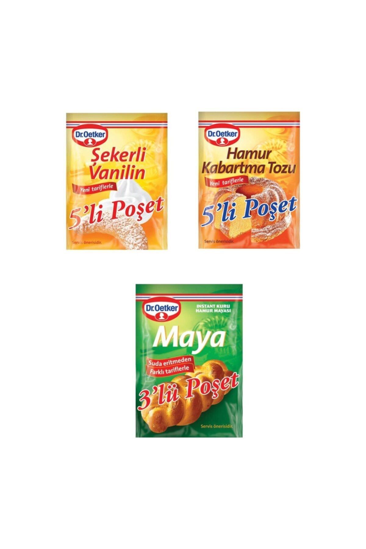 Dr. Oetker Ekonomik Paket (şekerli Vanilin + Kabartma Tozu + Instant Maya) 1