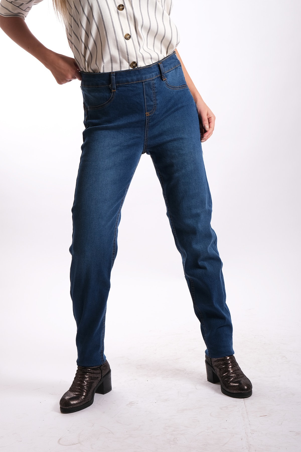 Blues Outlet Kadın B.beden Beli Korseli Jeans 1