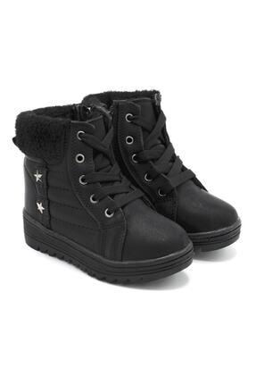 Twingo Kız Çocuk Siyah Fermuarlı Bot Ayakkabı 7355