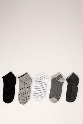 DeFacto Kadın  Karma 5'Li Patik Çorap Set L6598AZ21SP
