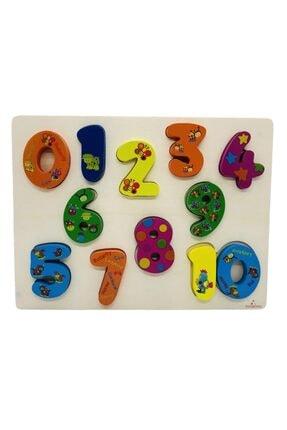Wooden Toys Ahşap Tombul Bultak 3d Ahşap Sayılar, Puzzle Okul Öncesi Eğitici Eşleşmeli Bultak.