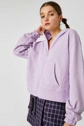 Koton Kadın Lila Sweatshirt 1KAL68356OK