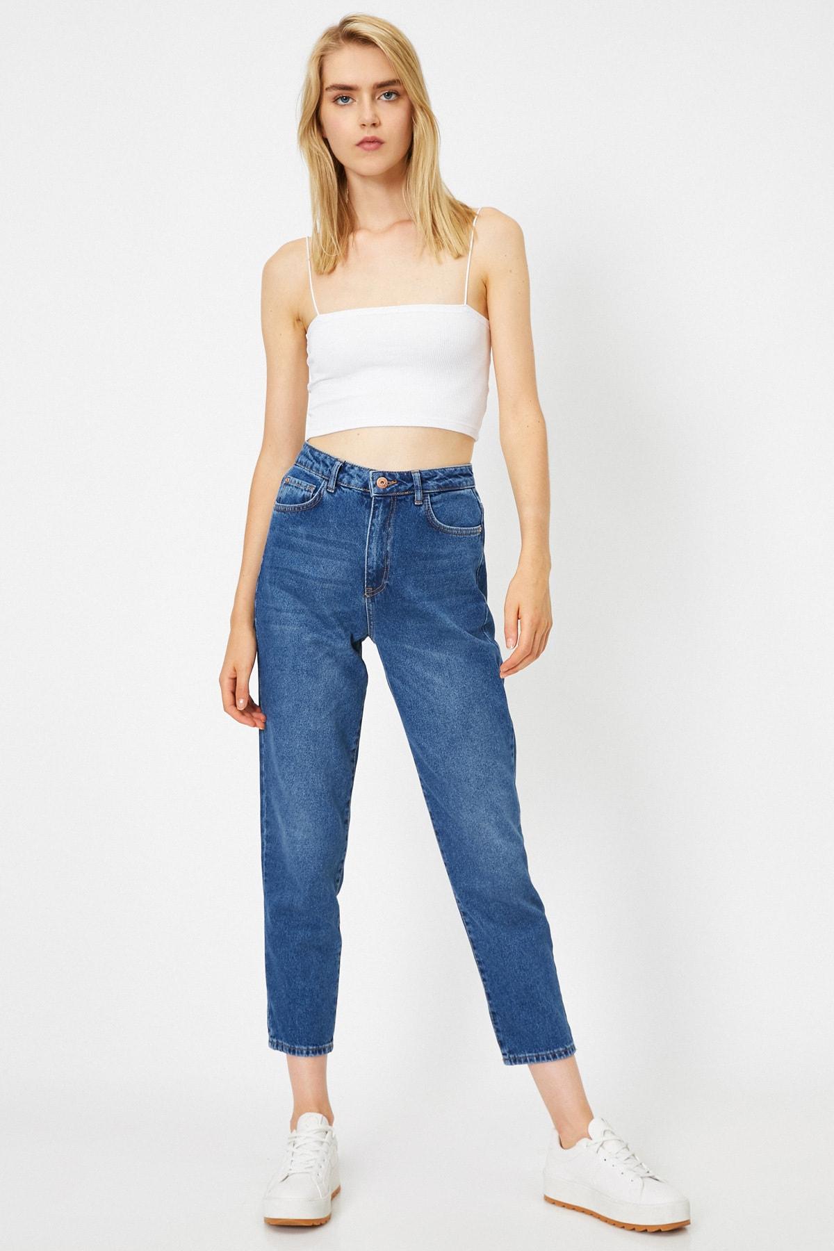 Koton Kadın Yüksek Bel Mom Jeans 1