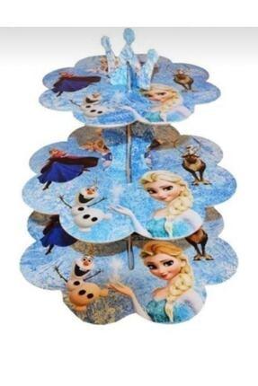 Kelebek Parti ve Kına Frozen 3 Katlı Kek Standı