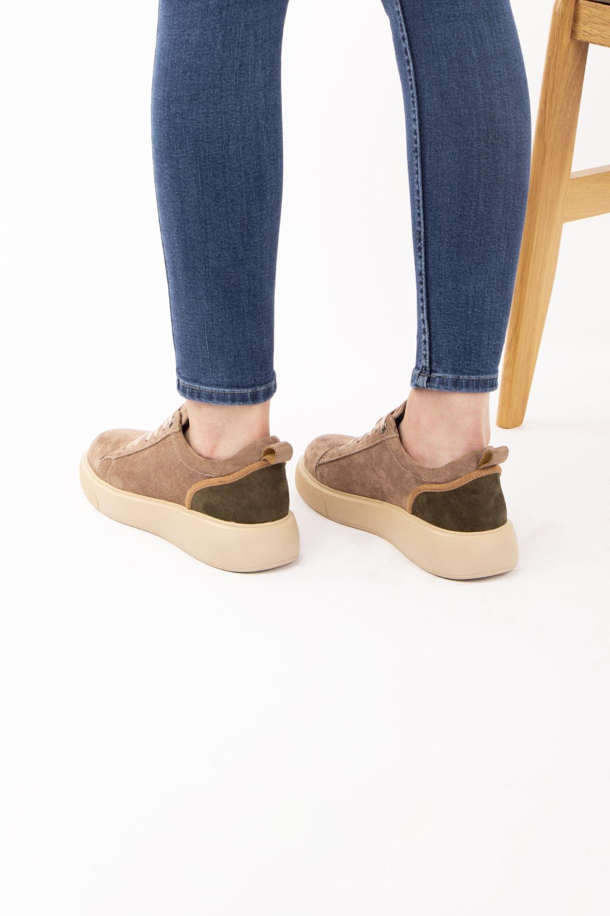 Caddemoda Kadın Vizon Süet Ayakkabı 2