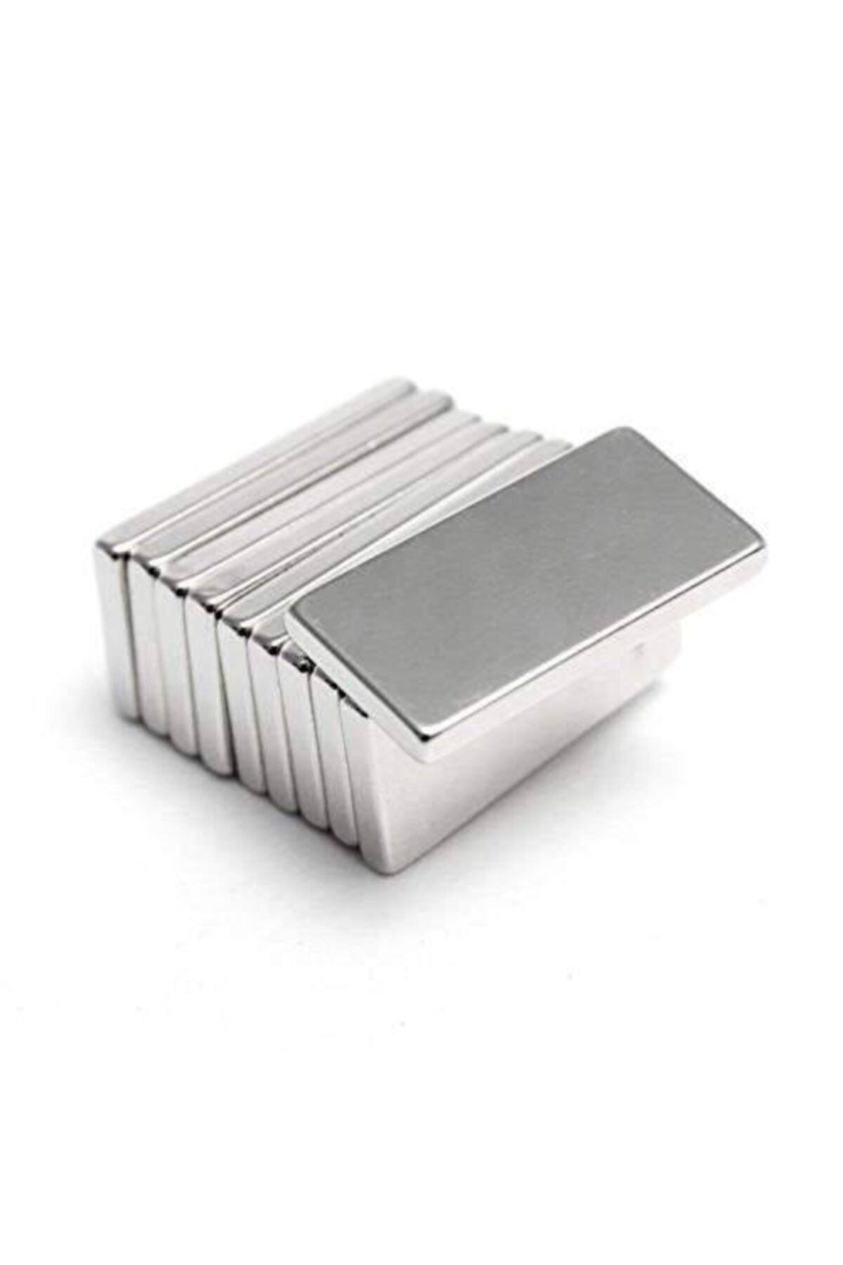 Dünya Magnet 5 Adet 20x10x3 Süper Güçlü Neodyum Mıknatıs Magnet 2