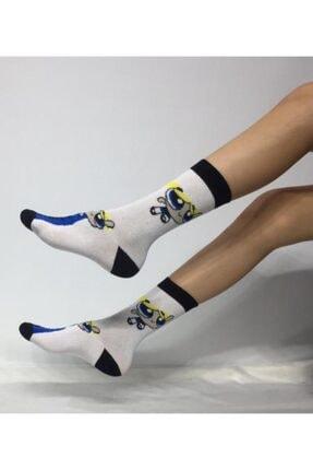 ADEL ÇORAP Unisex Powerpuff Girls Desenli Soket (Uzun) Çorap