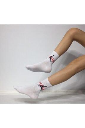 ADEL ÇORAP Unisex Penye Jordan Desenli Kolej Çorabı