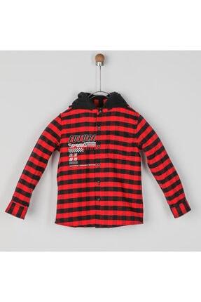 Panço Erkek Çocuk Kırmızı Kapşonlu Gömlek