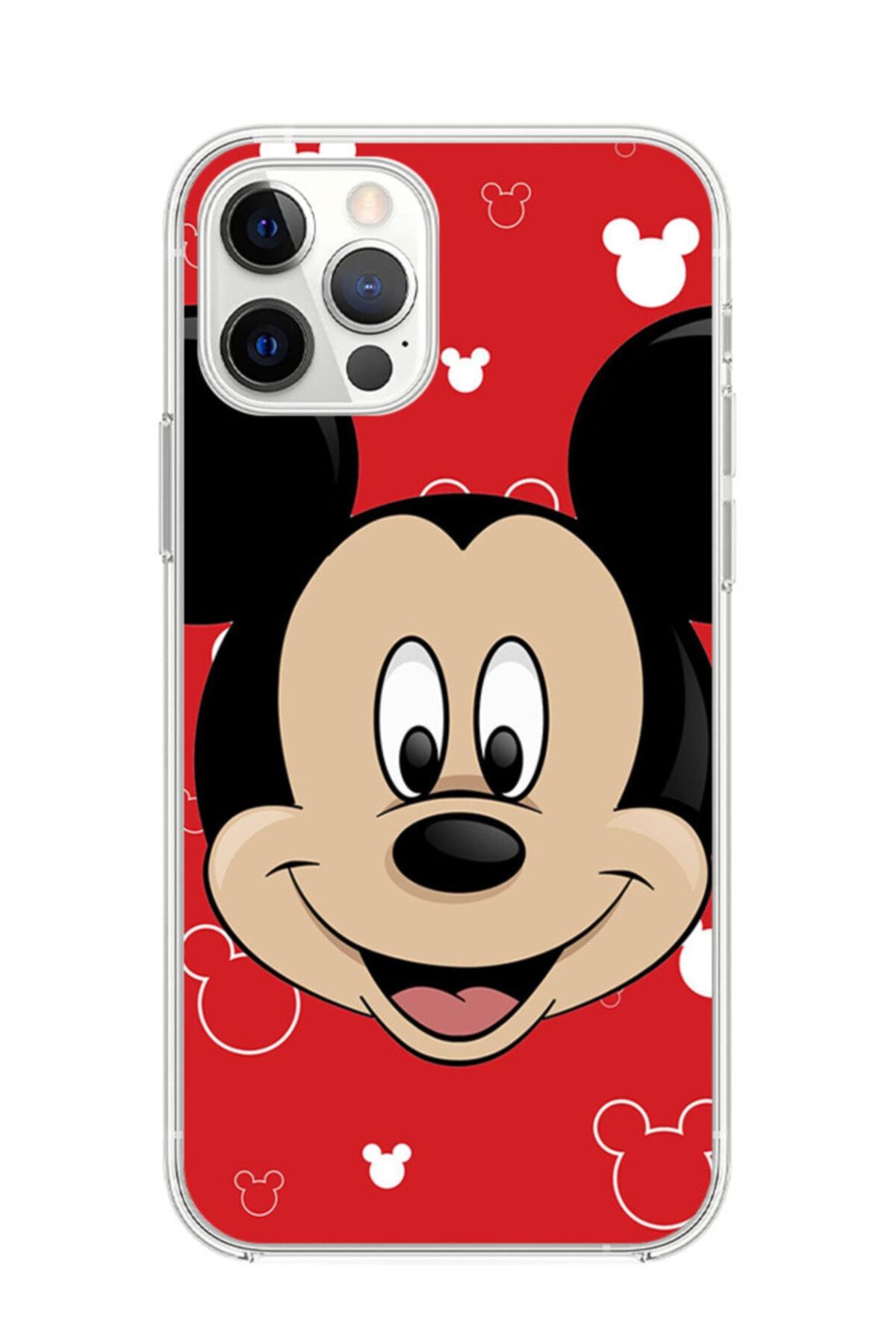 Dafhi Aksesuar Iphone 12 Pro Max Mickey Mouse Telefon Kılıfı 1