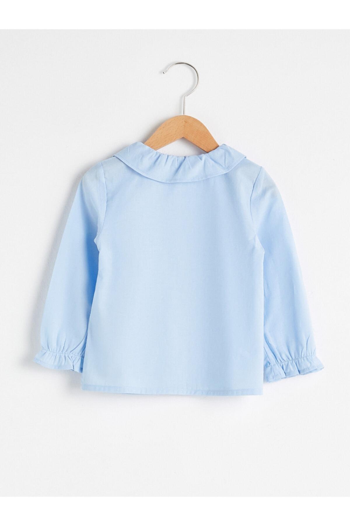 LC Waikiki Kız Bebek Mavi Gömlek 2