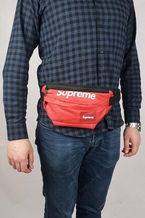 Supreme Unisex Kırmızı Omuz Bel Çantası