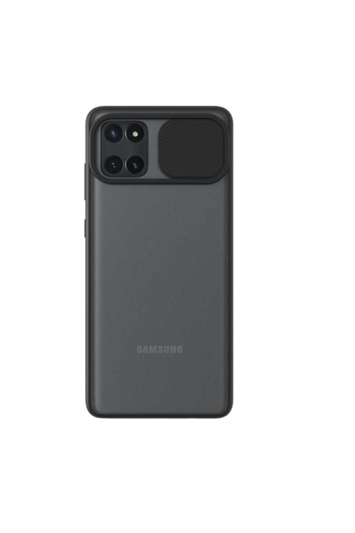 Samsung Teleplus Galaxy Note 10 Lite Kılıf Lensi Kamera Korumalı Silikon Siyah 1