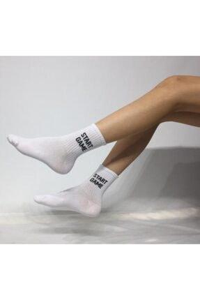 ADEL ÇORAP Kokulu Unisex Start Game Desenli Kolej Çorap