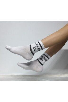 ADEL ÇORAP Kokulu Unisex Biladerim İçin Desenli Kolej Çorabı