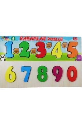 Türk Toys Ahşap Bultak Sayılar Eğitici Rakamlar Puzzle Çocuk Oyuncağı