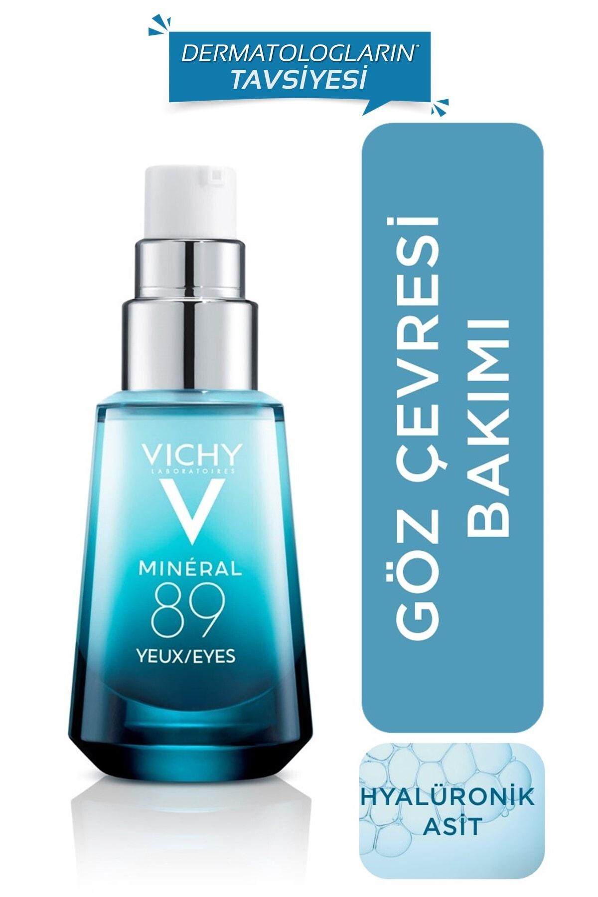Vichy Mineral 89 Göz Kremi Hyalüronik Asit ve Saf Kafein ile Göz Çevresi Bakımı 15 ml 3337875596763 1