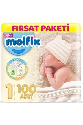 Molfix Dev Beden:1 Yeni Doğan 100 Adet Bebek Bezi 2-5 kg