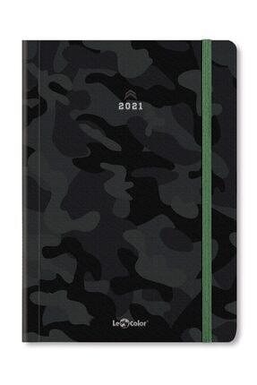 Le Color Camouflage 2021 Haftalık Ajanda Stıckerlı 15x21