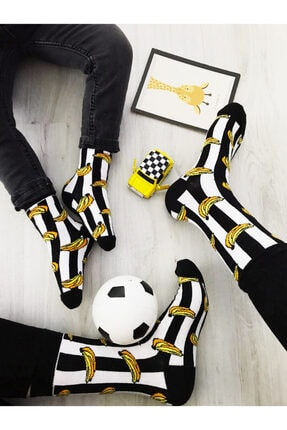 ÇORABİKA Muz Desenli Anne-çocuk Takım Çorap