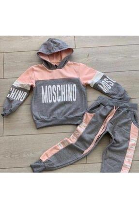 Moschino Kız Çocuk Pembe Baskılı Takım