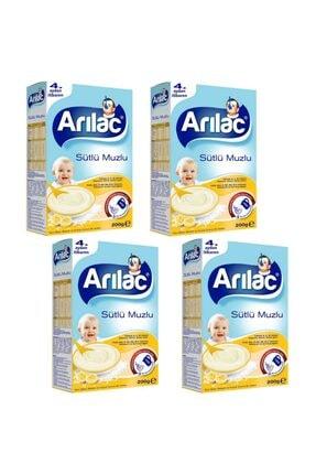 Arılac Sütlü Muzlu Bebek Ve Küçük Çocuk Ek Gıdası 200 gr 4 Adet