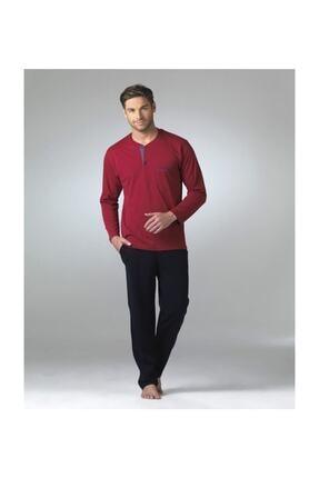 Pierre Cardin Erkek Bordo Uzun Kollu Pijama Takımı