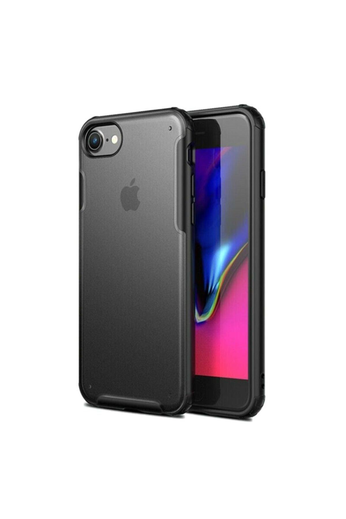 Apple Teleplus Iphone 8 Plus Kılıf Vonk Hibrit Sert Silikon Siyah + Nano Ekran Koruyucu 1