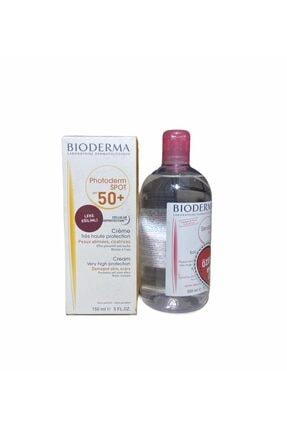 Bioderma 500ml Sensibio H2o Hediyeli - Photoderm Spot Spf 50+ Leke Karşıtı Güneş Kremi 150ml Skt2022