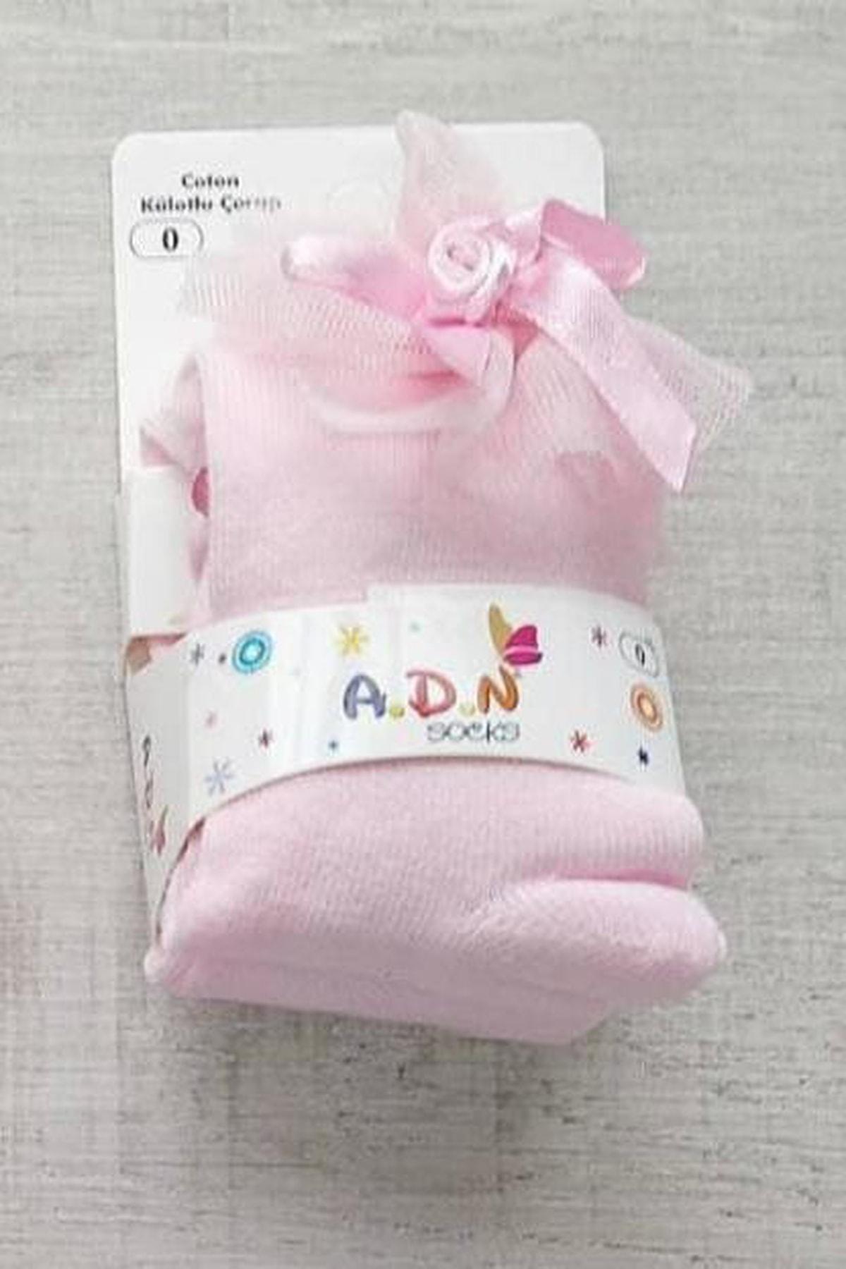 Bebek Exclusive Fiyonklu Pembe Renk Bebek Külotlu Çorap 2