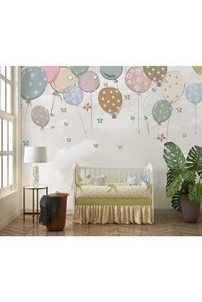 Özen Duvar Kağıtları Renkli Balonlar Bebek Ve Çocuk Odası Duvar Kağıdı