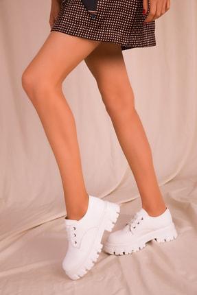 SOHO Beyaz Kadın Casual Ayakkabı 15737