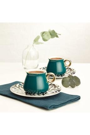 Emsan Armağan Yeşil 6lı Kahve Fincan Takımı