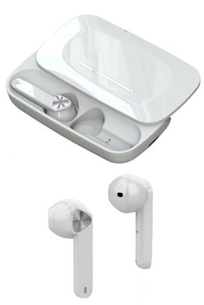 Escom Samsung Galaxy A50, A70 Uyumlu True Wireless Beyaz Bluetooth Kulaklık Version 5.0
