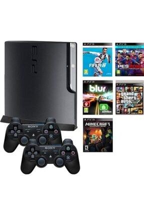 Sony Sıfır Ps3 Playstation 3 500 Gb Slim Konsol+200 Oyun+2 Kol