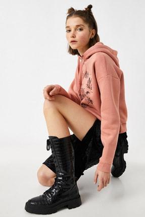 Koton Kadın Pembe Sweatshirt 1YAL68007IK