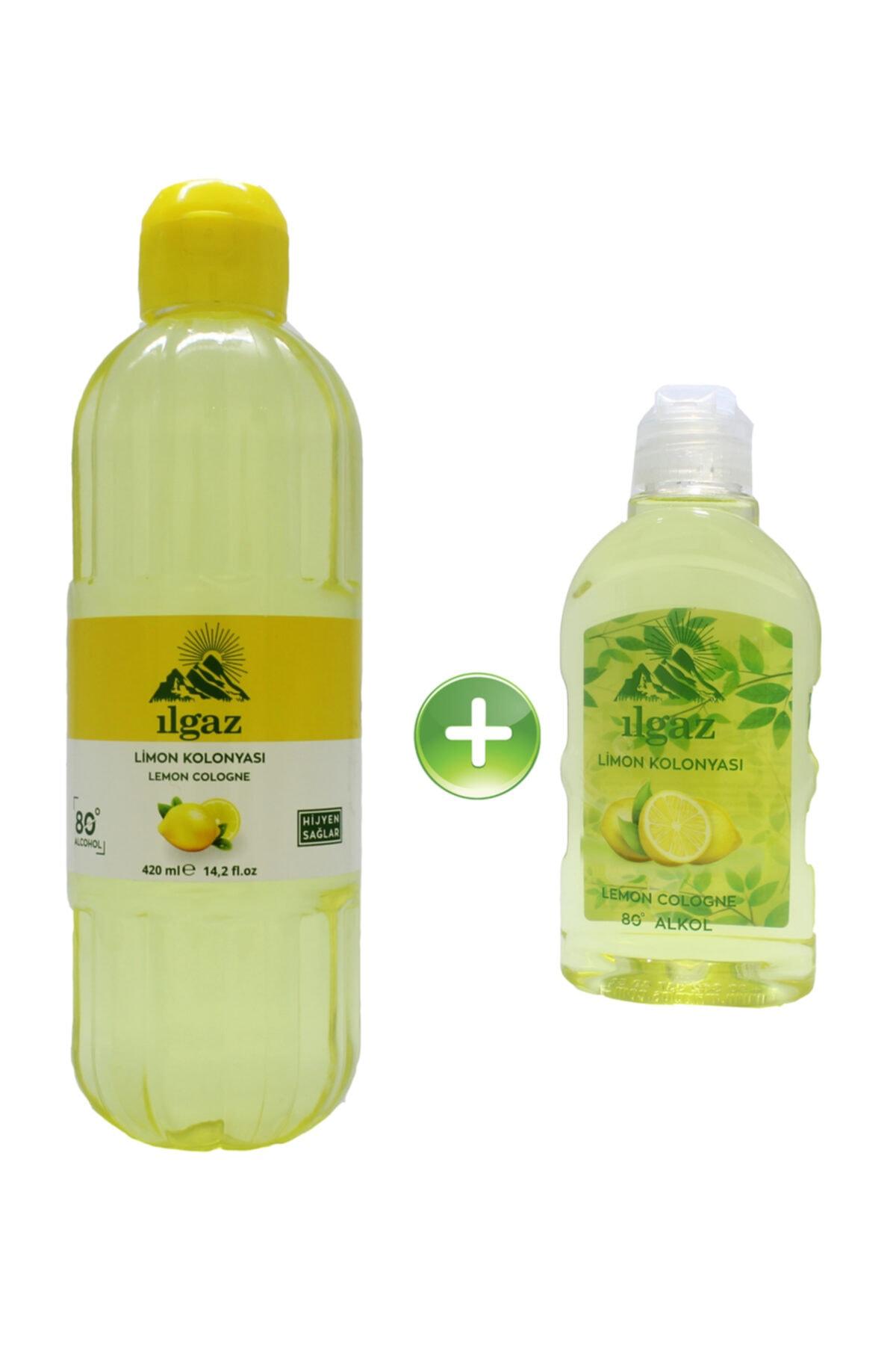 ILGAZ Limon Kolonyası 420 Ml + 225 Ml Ikili 80 Derece Kolonya Eau De Cologne 1