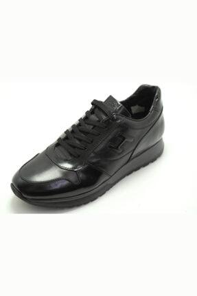 MARCOMEN Erkek Siyah Deri Rahat Günlük Sneaker Ayakkabı