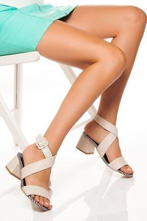 derithy Kadın Ten Klasik Topuklu Ayakkabı