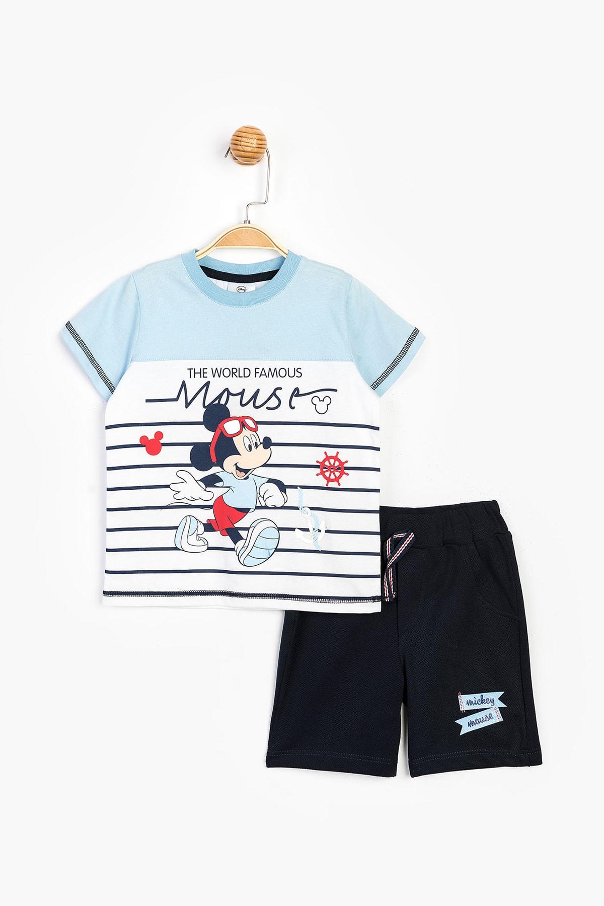 Mickey Mouse Disney Erkek Çocuk Şort Takım Ful Bebe 1