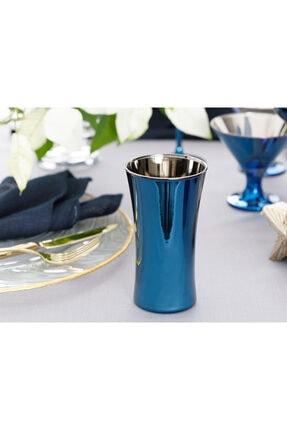 English Home Jade Cam 2'li Meşrubat Bardağı 300 Ml Mavi - Lacivert