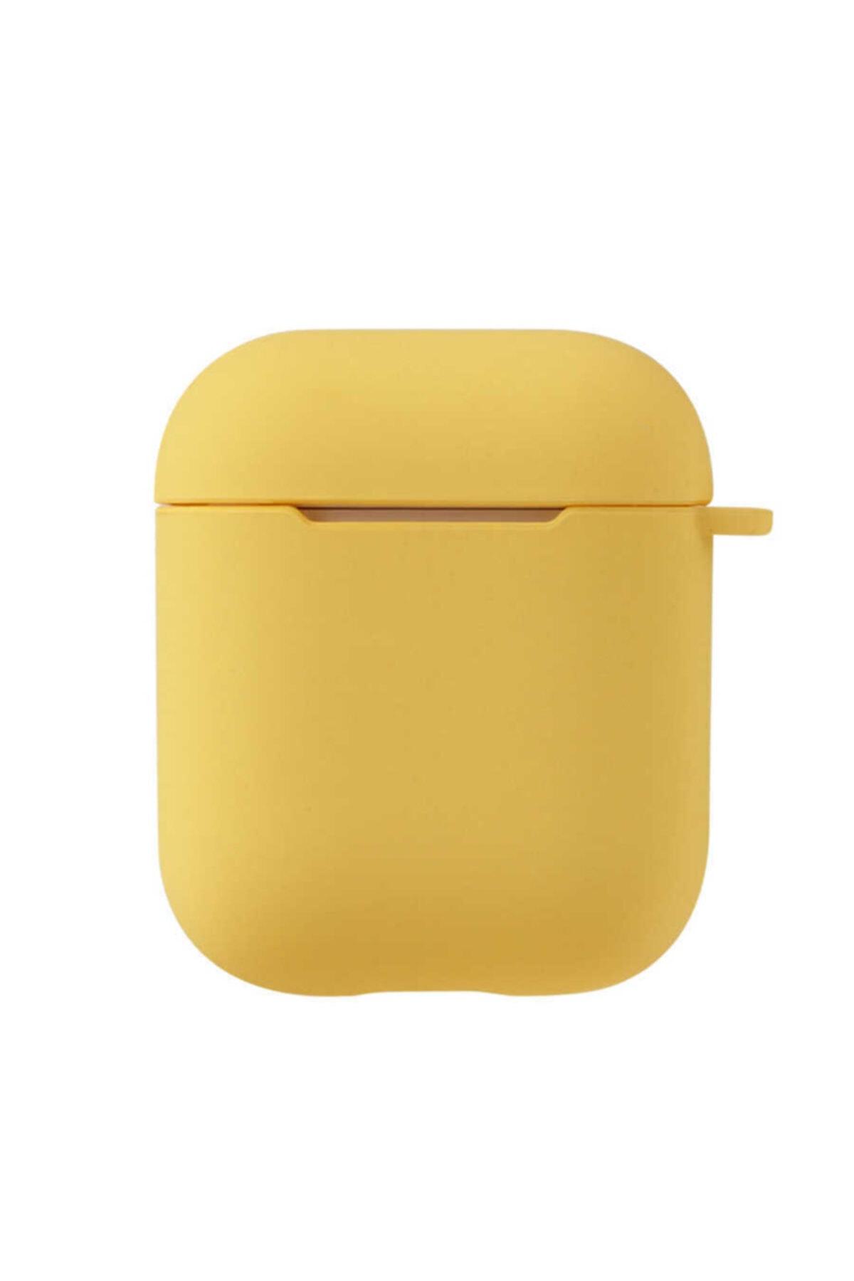 zore Airpods Kılıfı Tpu Wireless Şarj Destekli Soft Görünüm Mat Renkli Silikon Askılı Kılıf 1