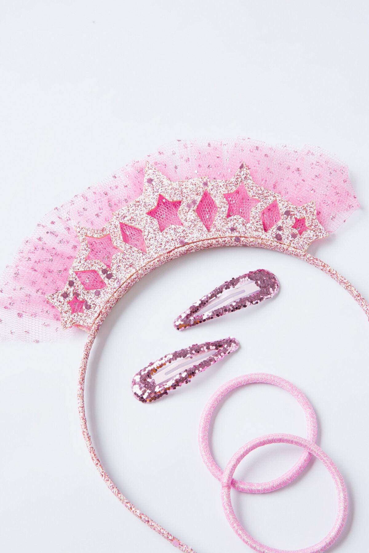 Penti Pembe Kız Çocuk Princess Taç Set 2