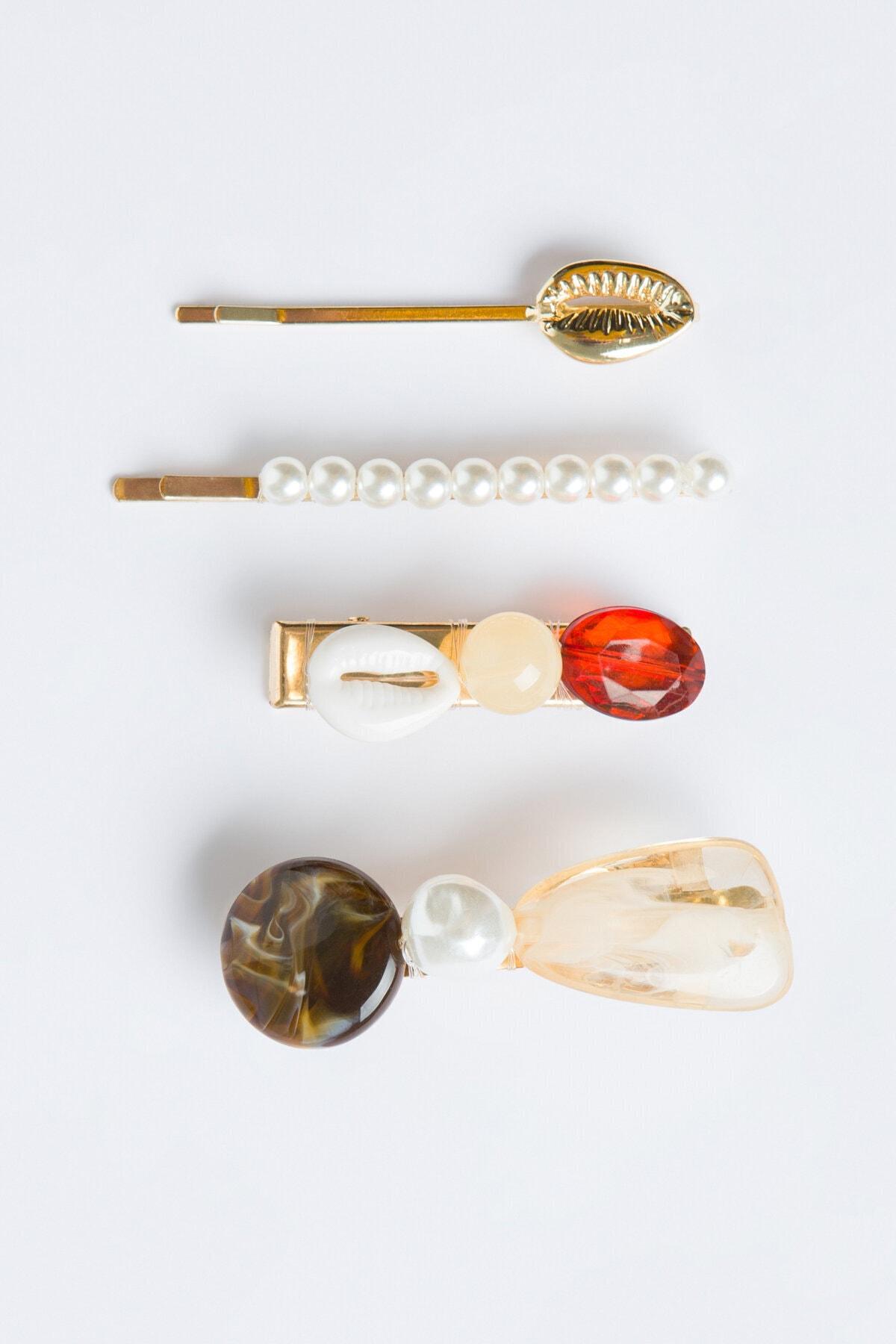 Penti Çok Renkli Pearl Toka Set 1