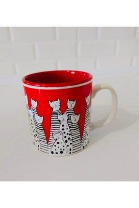 Keramika 10 Cm Rıbbon Kupa Kırmızı