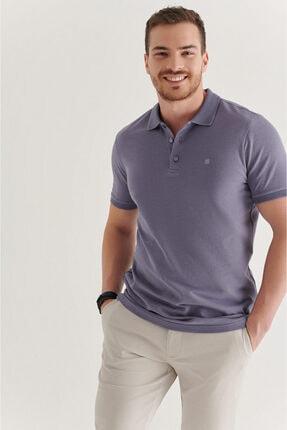 Avva Erkek Lila Polo Yaka Düz T-shirt A11b1146