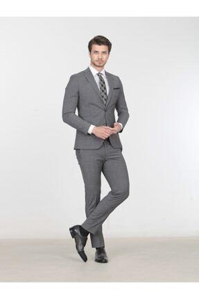 Kip Erkek Gri Dokuma Takım Elbise